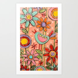 Happy Birdy Art Print