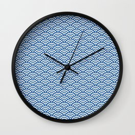 """Seigaiha"" Japanese traditional pattern Wall Clock"