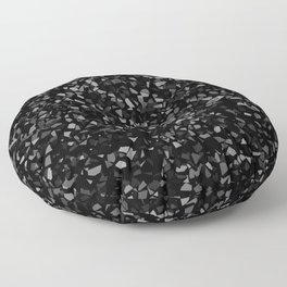 Black Stone Smashed pieces Floor Pillow