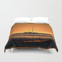 sailboat Duvet Covers featuring Sailboat  by GG's photography.