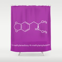 MDMA Shower Curtain