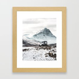 on the road in iceland Framed Art Print