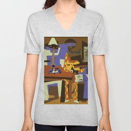 Picasso - The Musician Unisex V-Neck