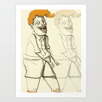 ginger Art Prints featuring Ginger by Seth Duhy