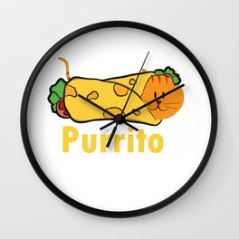 Mexican Food Burrito Puns  Print Wall Clock
