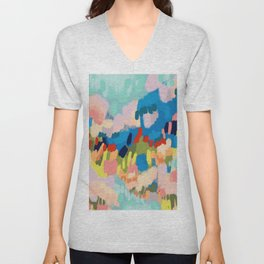 Abstract Painting 191002 Unisex V-Neck