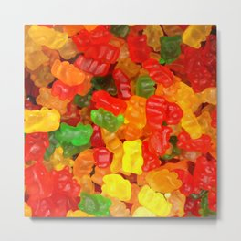 red orange yellow colorful gummy bear Metal Print