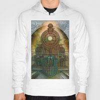 train Hoodies featuring Train by evisionarts