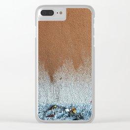 Rough forgotten paint splatter Clear iPhone Case