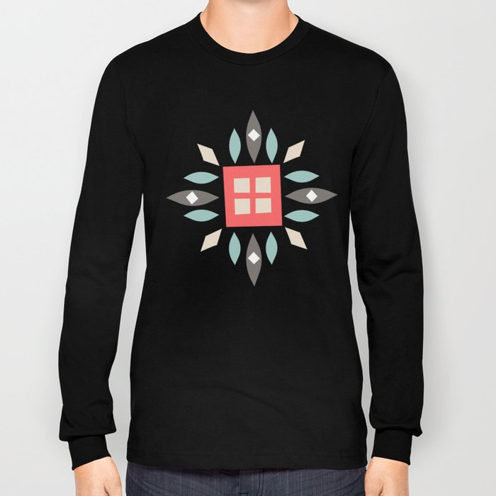 Custom Beautiful Multicolor Hanukkah Holiday Pattern Long Sleeve T-shirt