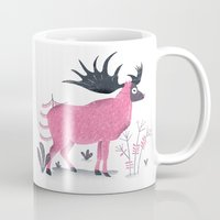 elk Mugs featuring Elk by Rodrigo Fortes