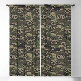 Sloth Camouflage Blackout Curtain