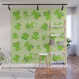 Pattern Of Frogs, Frog Prince, Frog Princess Wall Mural