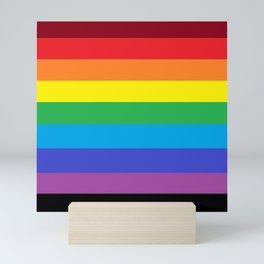 Simple Colored Stripes - Rainbow Mini Art Print