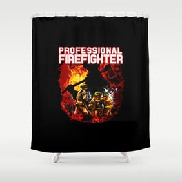 Fire Rescue Professional Shower Curtain