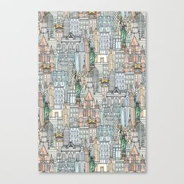 New York watercolor Canvas Print