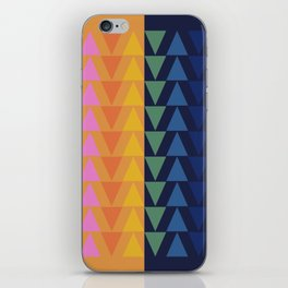Day and Night Rainbow Triangles iPhone Skin