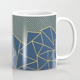 Ab Lines 45 Navy and Gold Coffee Mug