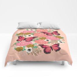 Monarch Florals by Andrea Lauren  Comforters