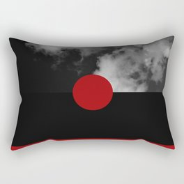 Night Skies Red Rectangular Pillow