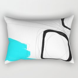 Blocks - Blue Round  Rectangular Pillow