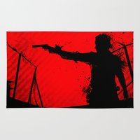 walking dead Area & Throw Rugs featuring The Walking Dead Rick by Roboz