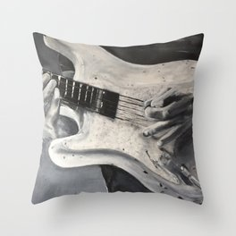 road warrior, stratocaster guitar Throw Pillow