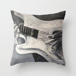 road warrior, stratocaster guitar Throw Pillow