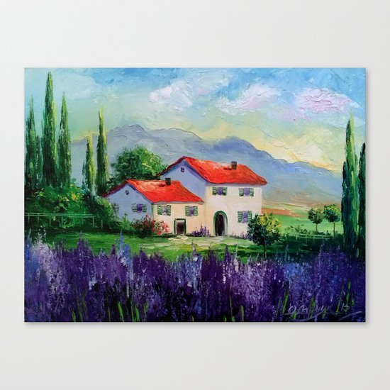 The beauty of Provence Canvas Print