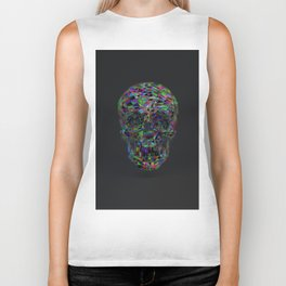 Skull Low-Poly Color Biker Tank