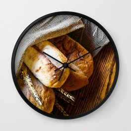 Loaves of Bread Wall Clock