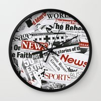 daenerys Wall Clocks featuring News Branded by bimorecreative