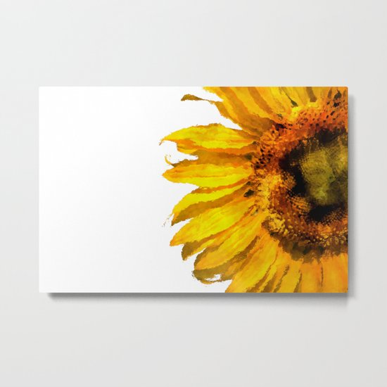 Simply a sunflower Metal Print