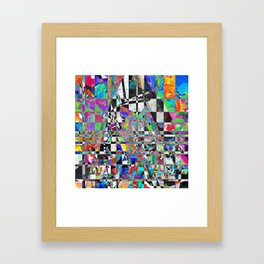 Mosaic Mountain Framed Art Print