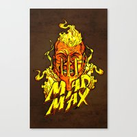 mad Canvas Prints featuring Mad by Demonigote