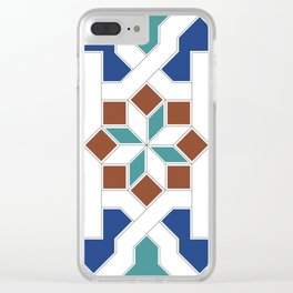 Geometric Pattern - Oriental Design Pt. 7 Clear iPhone Case