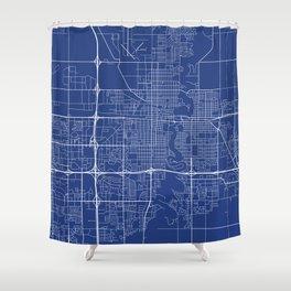 Fargo Map, USA - Blue Shower Curtain