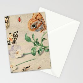 """Jan van Kessel de Oude """"Study of insects and flowers"""" Stationery Cards"""