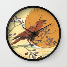 JINWU (three-legged crows) Wall Clock