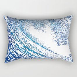 Pacific Waves IV Rectangular Pillow