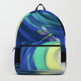 Dragonfly And A Summer Sunset Backpack