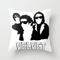 velvet underground Throw Pillows featuring VELVET UNDERGROUND W by zzglam