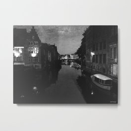 late night in Ghent  Metal Print