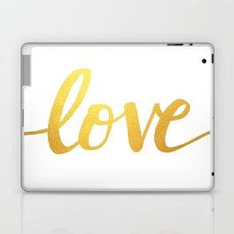Love Gold Laptop & iPad Skin