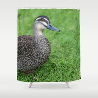 duck Shower Curtains featuring Duck by Bunyip Designs