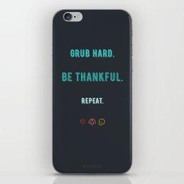 Grub Hard iPhone Skin