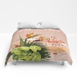 Flamingo Cocktail Comforters