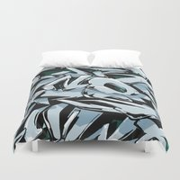 lettering Duvet Covers featuring Graffiti Lettering  by Spine B7