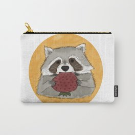 Strawberry Racoon Carry-All Pouch