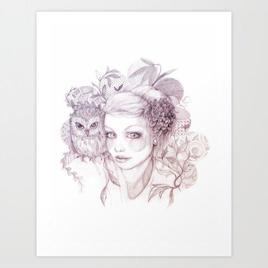 Felt Heart Art Print